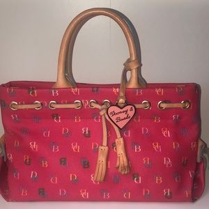 Pink Dooney & Burke logo satchel